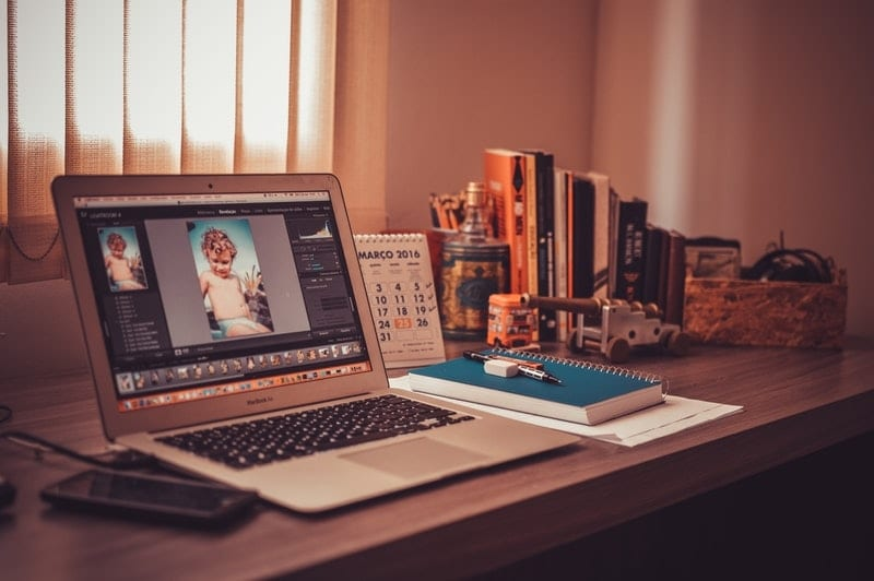 Online photo editing background change
